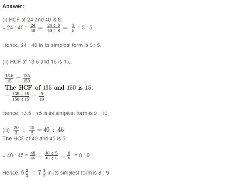 Ratio and Proportion RS Aggarwal Class 7 Maths Solutions Exercise ...