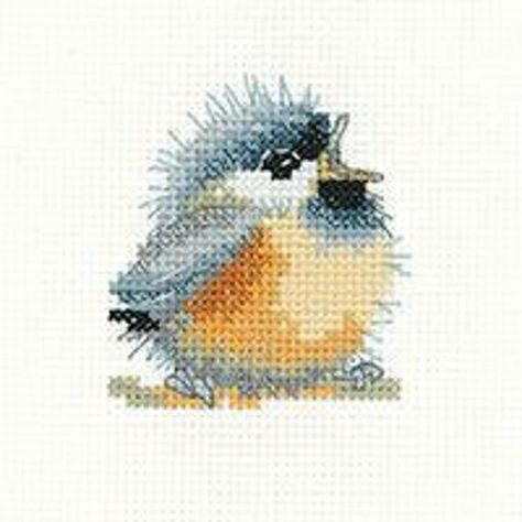 Finished completed cross stitch gosling spring time babies geese