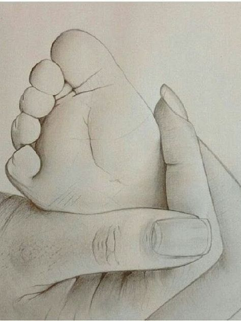 60 Simple Pencil Mother and Child Drawings