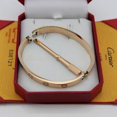 eb4baa7e9c88c cartier love bracelet pink gold plated real with screwdriver replica ...