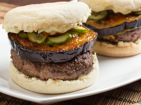 Burger Toppings Week: Japanese Miso-Eggplant Burger With ...