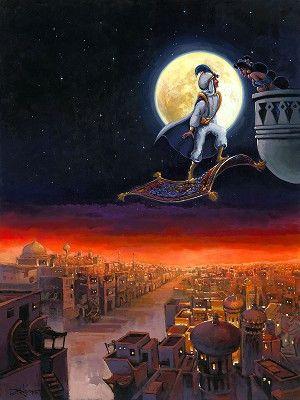 Rodel Gonzalez A Visit from Prince Ali From Aladdin  Original Acylic on Canvas CEAVISIT $14925.00