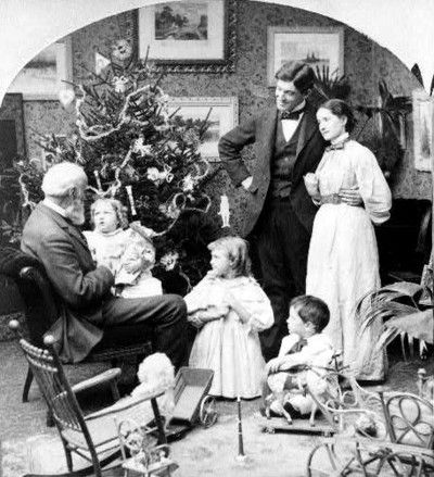 A family's Christmas c.1897.  Sweet.