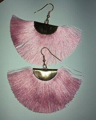 Big Boho Silk Tassel Fringe Earrings Womens Earrings Fan Vintage Ebay Fringe Earrings Tassel Fringe Long Tassel Earrings