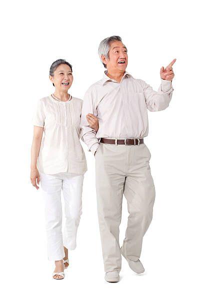 Beijing China Happy Old People People Cutout Render People
