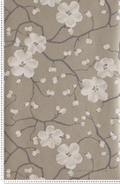 Poppy Marron Glace Papier Peint Tiffanie Print Papier Peint