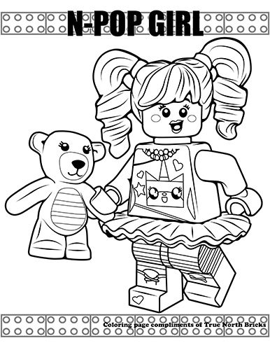 Coloring Page N Pop Girl Lego Coloring Pages Cute Coloring