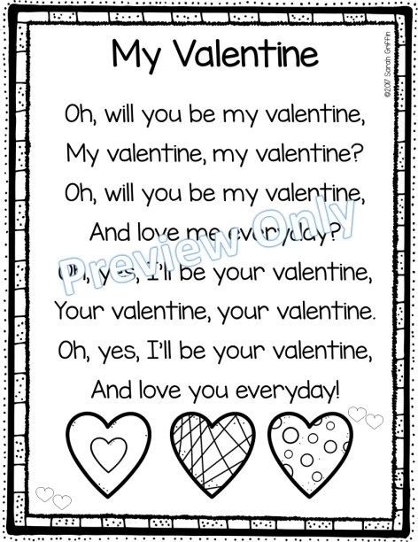 5 Fun Valentines Day Poems For Kids Valentines Day Poems Valentines Poems Valentines Day Songs