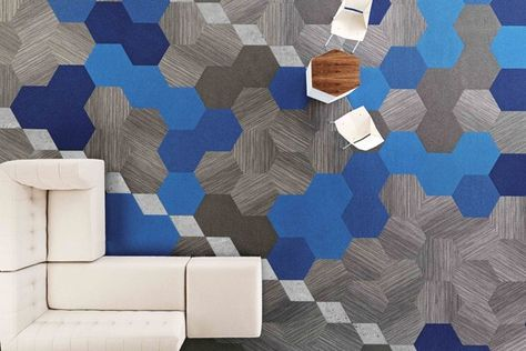 Hexagon carpet tile by Shaw Contract Group.
