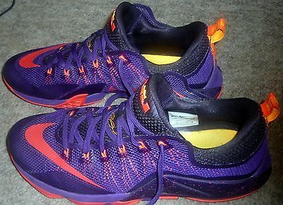 b052eb9e44d Nike Lebron XII Low Mens  Shoes Court Purple Crimson-Purple Orange 724557-565  14