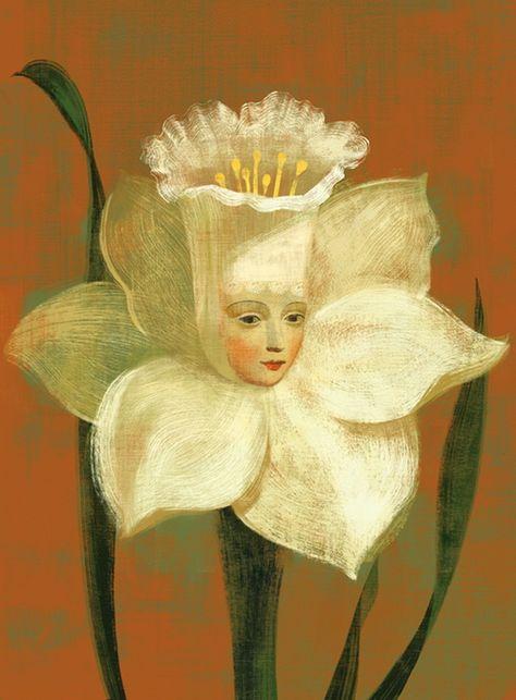 Anna and Elena Balbusso ~ Italian Surrealist illustrator Art Inspo, Kunst Inspo, Inspiration Art, Art And Illustration, Flowers Illustration, Fantasy Kunst, Fantasy Art, Images Victoriennes, Arte Peculiar