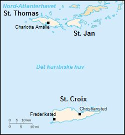 "The Danish West Indies (Danish: Dansk Vestindien or De dansk-vestindiske øer) or Danish Antilles was a Danish colony in the Caribbean, first under the united kingdoms of Denmark-Norway and later, after the 1814 Treaty of Kiel, Denmark alone. The islands were sold to the United States and were organized as the United States Virgin Islands in 1917. The Danish geographical name for the constituent islands is Jomfruøerne (lit. ""The Virgin Islands"")."