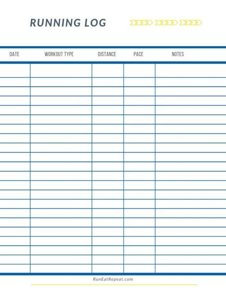 27 Factors That Can Impact Your Training And Free Running Log Printable Run Eat Repeat Running Journal Printable Workout Log Printable Running Journal