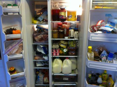 Stephen and Krista Reid's full fridge