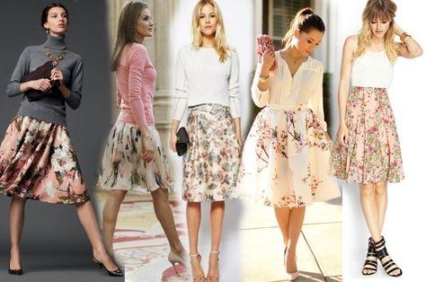9d004054acd Цветочная юбка  с чем носить юбку с цветочным принтом