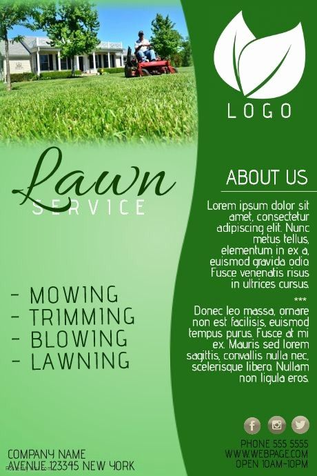 Best Of Create Amazing Lawn Care Flyers By Customizing Our Easy To In 2020 Lawn Care Flyers Lawn Mowing Business Lawn Care