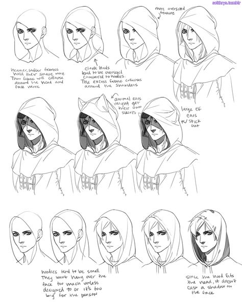 """solthrys: """" No more melted tomblerones or mising skulls, yyeann! This is my basic process for pretty much everything I draw. The key is understanding the shape of the garment you're trying to draw and..."""