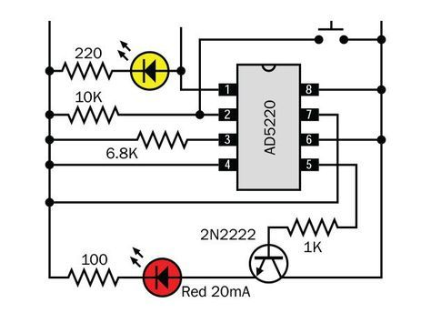 How To Use Digital Potentiometers To Control Light And Sound Make Electronic Schematics Electrical Engineering Projects Electronic Circuit Projects
