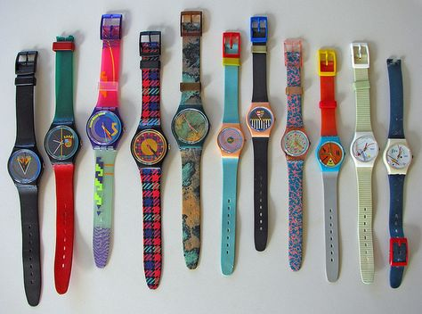 Swatch watches - I had an awesome pink and blue one. with a pink swatch guard!