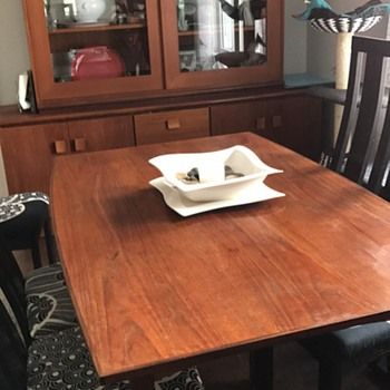 Love The Teak Wood Boat Shaped Dining Table And Especially The