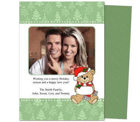 Photo Cards : Pixie Christmas Holiday Photo Card Template