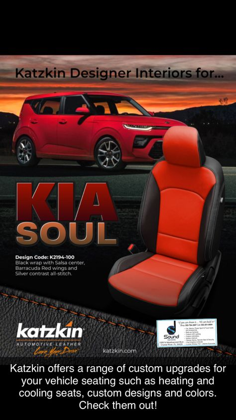 Pin By Sound Decisions On Katzkin Seats Covers Soul Design