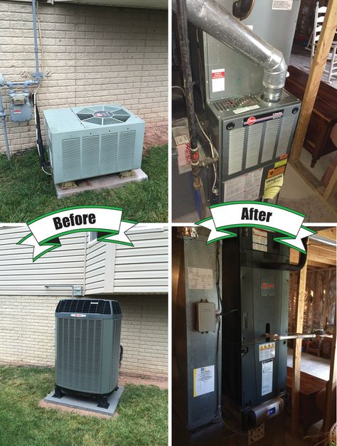 Holtzopleheatingandairconditioning Trane Beforeandafter Trane Xl18 Heat Pump With Trane Clean Eff Hvac Services Propane Furnace Heating And Air Conditioning
