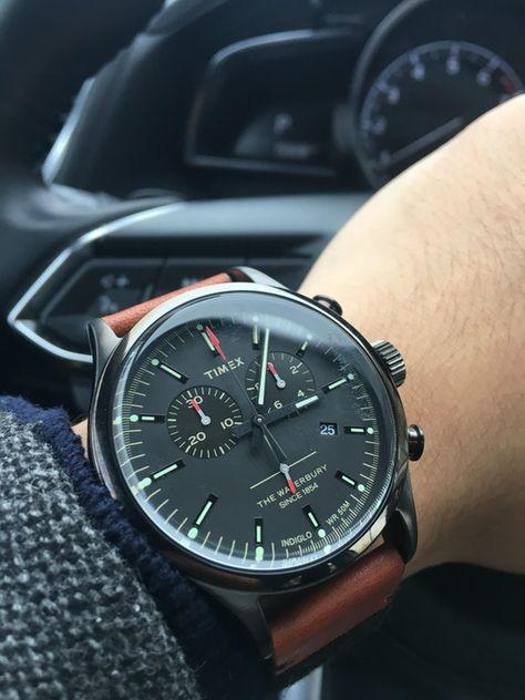 [Timex] Waterbury Chronograph : Watches [Time… – Clock World Stylish Watches, Luxury Watches For Men, Amazing Watches, Cool Watches, Timex Watches, Hand Watch, Omega Speedmaster, Patek Philippe, Moda Masculina