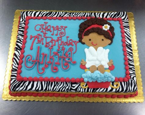Spa Party with Zebra Print. Cake by Stephanie Dillon, LS1 Hy-Vee