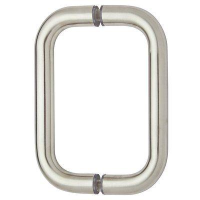 Rockwell Security Pull Plate Finish Brushed Nickel Frameless Shower Doors Frameless Shower Shower Doors