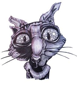 Coraline Cat Wusspuss Black Illustration Drawing Ballpoint Pen Pattern Design Coraline Art Coraline Cat Coraline Tattoo