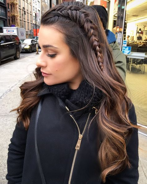 Style: Lea Michele's braid