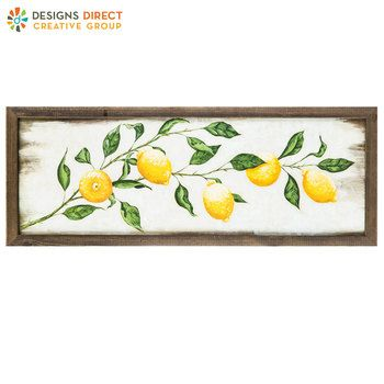 Lemon On Vine Wood Wall Decor Wood Wall Decor Arrow Wall Art Decor