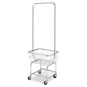 Neu Home Commercial Grade Chrome Laundry Cart Walmart Com