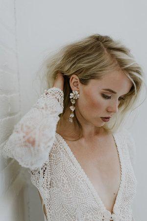 Pin By Bellestudiobijou On Bridal Earrings In 2020 Bride Earrings Bridal Statement Earrings Statement Earrings Wedding