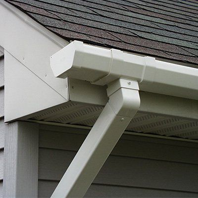 Tips For Spray Painting Gutters And Downspouts With Images Painting Gutters Gutters Diy Gutters