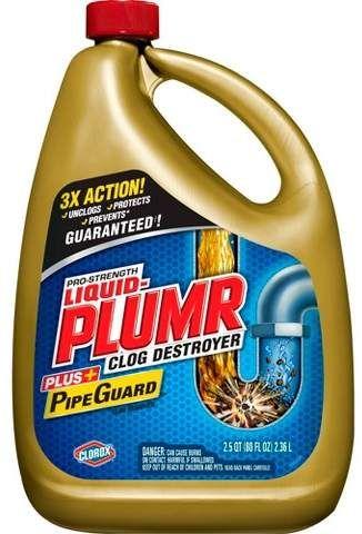 Liquid Plumr Pro Strength Full Clog Destroyer Plus Pipeguard 80