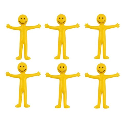 Smiley Face Stretchy Man Birthday Party Kids Toy Stocking Loot Bag Filler