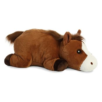 Smores Stuffed Animal, Caramel The Large Stuffed Horse S Mores Pillowy Plush By Aurora Plush Horse Dinosaur Stuffed Animal Horses