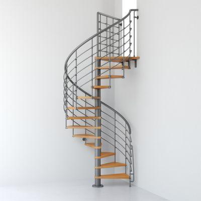 Escalier Metal Et Bois Magia 70xtra O150 Cm 14 Marches Palier