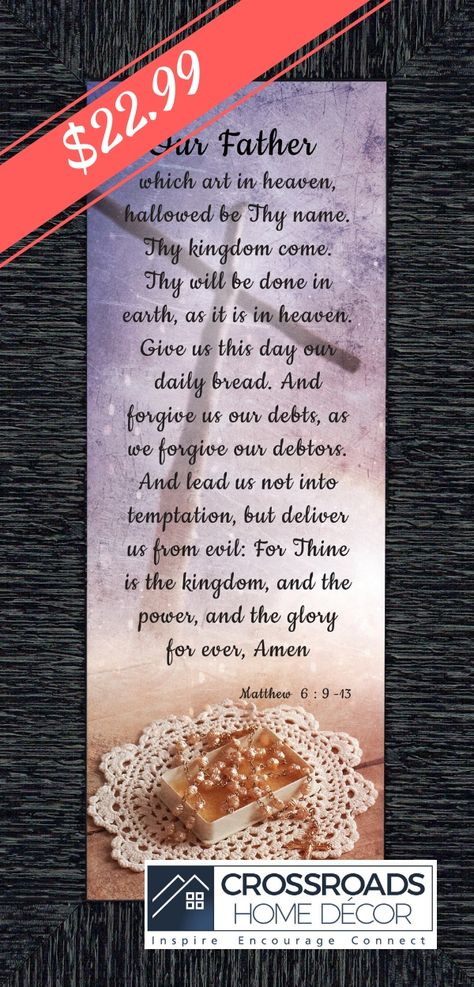 4c3e2ea09df bible wooden dexsa lord prayer the footprints kitchen wall our verse family  biblical lord s prayers lords  heaven religious verses plaques decor father  ...