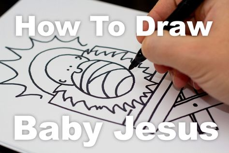 How to draw baby Jesus for kids!
