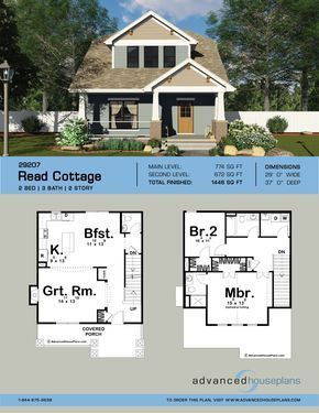 2 Story Craftsman Style House Plan Read Cottage Cottage Craftsman House In 2020 Small Craftsman House Plans Craftsman Style House Plans Small Cottage House Plans