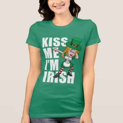 Kiss Me I/'m Irish St Patricks Day Irish Gift Ladies T shirt