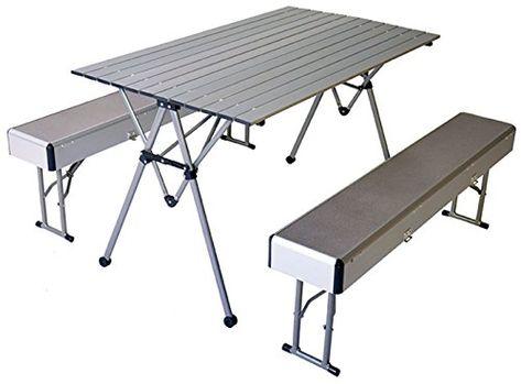 Camping Tisch Neu Klapptisch Mit 2 Banken Aluminium St
