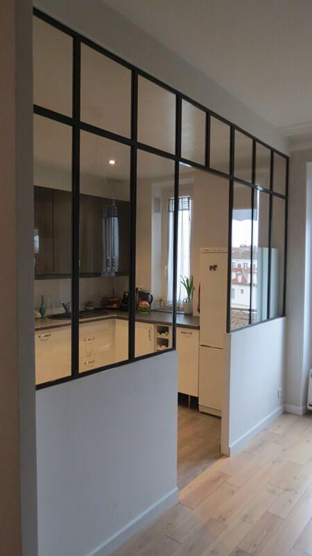 Verriere D Atelier D Artiste Interieur Sur Mesure Oise Paris Ile De France En Fran Cuisine Verriere Amenagement Petit Appartement Amenagement Appartement