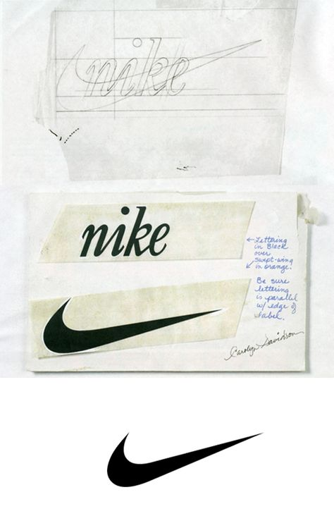 Process sketches of 11 famous logos - 99designs
