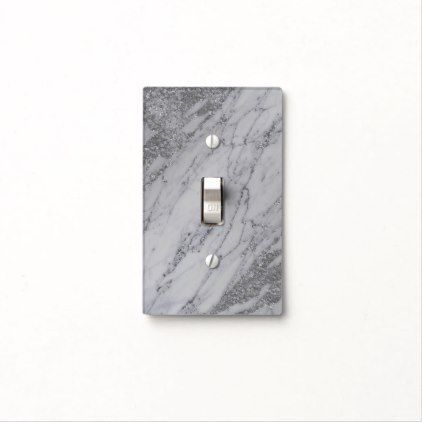 Trendy Modern Marble Elegant Silver Glam Chic Light Switch Cover Zazzle Com Light Switch Covers Light Switch Glam Chic