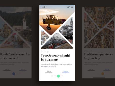 App Intro Screens Template Sketch Freebie