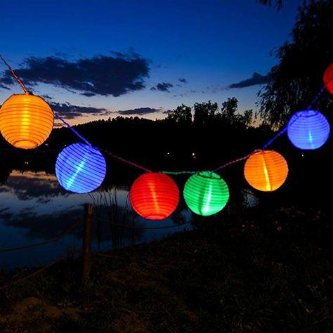 Uping Led Lichterkette 30er Batterienbetriebene Lampions Laterne